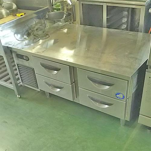 【中古】冷蔵低ドロワーコールドテーブル サンヨー SUR-DF1271-2A 幅1200×奥行750×高さ565  【業務用】:厨房器具と店舗用品のTENPOS