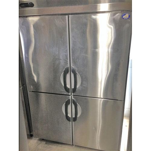 【中古】4ドア縦型冷蔵庫 サンヨー SRR-F1283S 幅1200×奥行800×高さ1950 三相200V  【送料別途見積】【業務用】:厨房器具と店舗用品のTENPOS