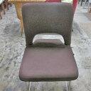 【中古】折りたたみ座椅子 布ブラウン 幅450×奥行500×高さ450 【送料無料】【業務用】