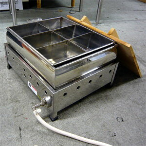 【送料無料】【中古】【業務用】 おでん鍋湯煎式 6ッ切 幅540×奥行400×高さ315 -