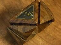 tense木製トライアングルブレス型腕時計(ウォルナット)
