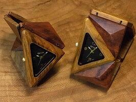 tense木製トライアングルブレス型腕時計(チーク&ローズウッド&ウォルナット)