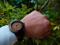 アーバンモデル木製腕時計(インレイドサンダルウッド)