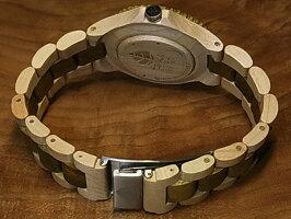 アーバンモデル木製腕時計(グリーンサンダルウッド&メープルウッド)