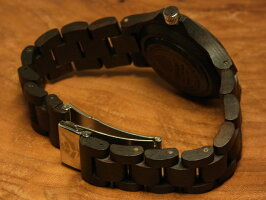 ラウンド型腕時計ベルト(ダークサンダルウッド)