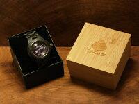 ラウンド型腕時計(ダークサンダルウッド)