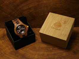 ラウンド型腕時計(サンダルウッド)