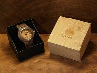 レトロモダンモデル木製腕時計(ウォルナット)