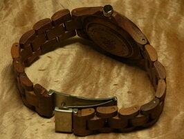 tenseラウンド型腕時計ベルト(ウォルナット)