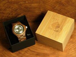 tenseラウンド型腕時計(ウォルナット)