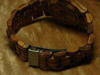 ラウンド型腕時計ベルト(ゼブラウッド)
