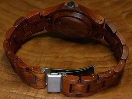 レトロモダンモデル木製腕時計(サンダルウッド)