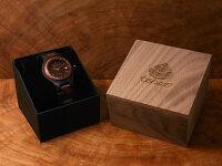 tenseラウンド型木製腕時計(サンダルウッド&アフリカンローズウッド)