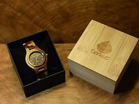 tenseラウンド型腕時計(インレイドサンダルウッド)