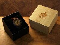 tense木製ラウンド型腕時計(サンダルウッド)