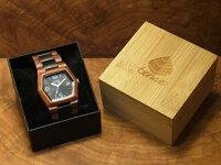tenseヘキサゴンモデル木製腕時計(サンダルウッド&ダークサンダルウッド)