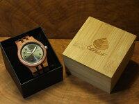 tenseグランプレミエモデル木製腕時計(アフリカンローズウッド&ダークサンダルウッド)