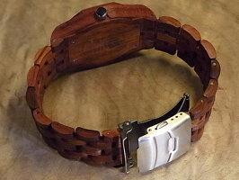 オクタゴンプレステージモデル木製腕時計(アフリカンローズウッド)