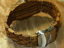 オクタゴンプレミアムモデル木製腕時計(ゼブラウッド)