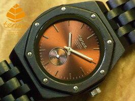 オクタゴンアドバンストモデル木製腕時計(ダークサンダルウッド)