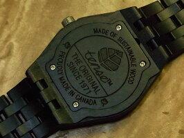 オクタゴンアドバンストモデル木製腕時計(ダークサンダルウッド