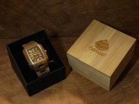 tenseトノー型モデルI木製腕時計(ウォルナット)