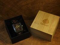 tenseトノー型腕時計(ダークサンダルウッド&サンダルウッド)