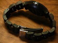 tenseプチアーバン型木製腕時計(ダークサンダルウッド)