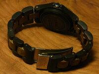 プチアーバン型木製腕時計(ダークサンダルウッド&グリーンサンダルウッド)