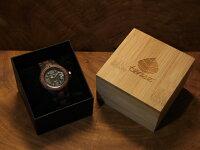プチアーバン型木製腕時計(ダークサンダルウッド&sandal)