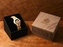 tenseラウンド型腕時計(メイプルウッド)