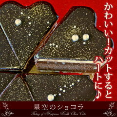 星空のケーキがハートになったバースデーケーキ♪構想1年、チョコ好きのための本格ショコラ登場...