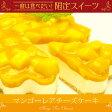 【夏限定】夢の完熟マンゴーてんこ盛り!マンゴーレアチーズケーキ(4〜6名分)ご挨拶に最適なギフト!!お誕生日ケーキ、お祝いにオススメ!
