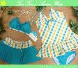 【セール】【送料無料!】 水着 レディース タンキニ ビキニ 9M(7680)■BEACH DREAM(ビーチドリーム) ホルターネックビキニ4点 女性水着 チェック 緑 9号