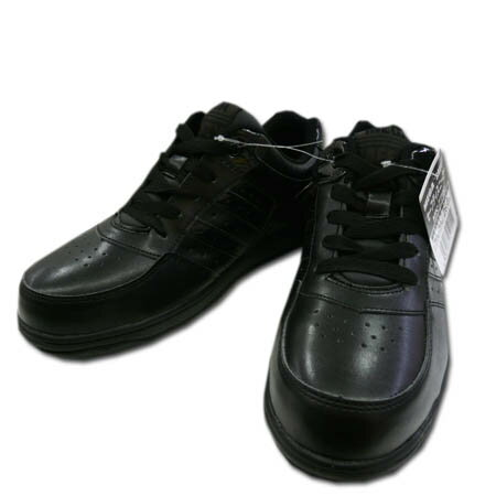 安全靴 安全スニーカー MEGA SAFETY メガセーフティ MK-7790 喜多 樹脂先芯 セーフティスニーカー 24.5〜28.0cm ブラック×ブラック 黒