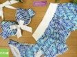 【セール】【送料無料!】 レディース水着 タンキニ 11L(8076)■Mulberry Street( マルベリーストリート ) ワイヤービキニ3点 スカート付 ドット 女性水着 青白 11号