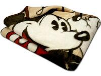 毛布ミッキー&ミニー「ラブユーロッツ」★シングルニューマイヤー毛布ジュニア140×200cmディズニーベージュ系