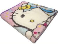 毛布キティ★シングルニューマイヤー毛布ジュニアサンリオハローキティ140×200cmキティ&ミニィくまピンク