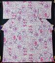 友禅小紋 花鳥模様【中古】【リサイクルきもの・リサイクル着物・アンティーク着物・着物買い取りの専門店 kimono 中古品