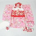 【新品】三歳女児用七五三一式セット【リサイクルきもの・リサイクル着物・アンティーク着物・...
