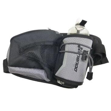 【DOUBLE3(ダブルスリー / ダブル3)】 ボトルホルダー DW1600 BLK(ブラック)ボトルポーチ ウエストポーチ ウエストバッグ ランニングバッグ ランニング マラソン ジョギング ウオーキング 登山 アウトドアー ハイキング 吸水バッグ 熱中症対策 フリーサイズ
