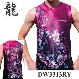 DOUBLE3X京都印染工房スギシタコラボ日本製DW3313MENSノースリーブランニングシャツ