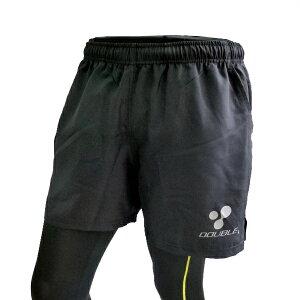 【DOUBLE3(ダブルスリー/ダブル3)】メンズ(Men's)DW-26605インチランニングパンツブラック/バックポケット、ドローコード付き(DW2660)*ブラック/グリーン/ピンク