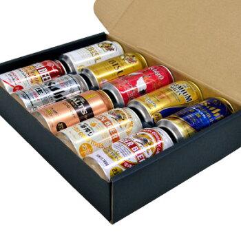 <2016父の日限定特製ギフトBOX>【送料無料】鶴のデザイン缶入★10種10本飲み比べギフト大人気プレミアムビール&実力派ビールのセット【父の日ギフトプレゼント御祝内祝】【532P15May16】
