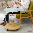 テーブル サイドテーブル ガラステーブル キャスター マガジンラック ナイトテーブル コーヒーテーブル ワゴン ブラック ホワイト センター ガラス デスク ソファ ベッド 回転 カフェ パソコン 木製 アイアン 円形 ウォールナット ミニテーブル サイドワゴン 白 おしゃれ