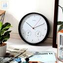 送料無料 温湿度計 壁掛け時計 掛け時計 掛時計 時計 壁掛け かけ時...