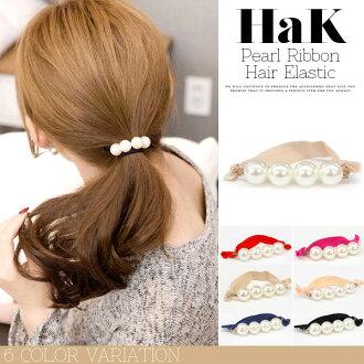 珍珠頭髮橡膠頭髮矮種馬頭髮泰國蝴蝶結女士頭髮配飾手鐲大顆粒珍珠古董式的4連珍珠發夾頭飾頭髮橡膠標準打數TEAR癖性
