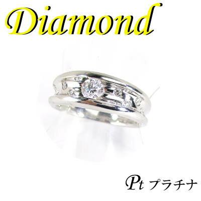 1-1702-02007 ZDS  ◆ Pt900 プラチナ リング  ダイヤモンド 0.34ct 12号