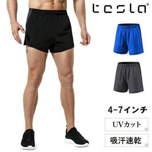 (テスラ)TESLA メンズ HyperDri ランニング ショーツ [UVカット・吸汗速乾] ドライフィット フィットネス パンツ [4-7インチ] MBH24/25/27