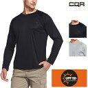 CQR 長袖 アウトドアスポーツ Tシャツ [UVカット UPF50+・吸汗速乾] メンズ スポーツ